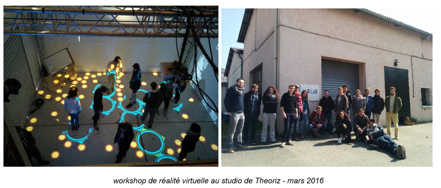 Workshop de réalité virtuelle au studio de Theoriz - mars 2016